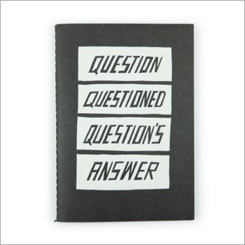 Notebook (A5) - questions answered
