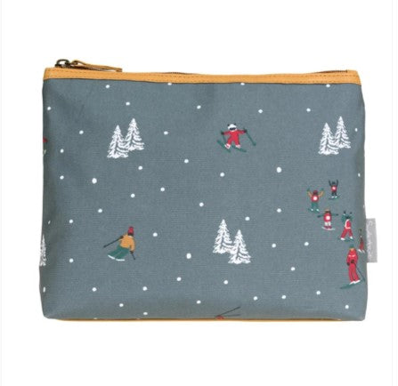 Oilcloth wash bag - skiing