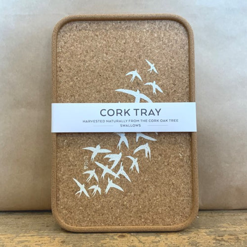 A small cork tray, perfect for holding your beverages, stylish, durable and easy to clean- just wipe down with water.