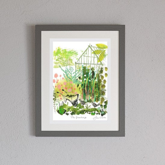 The greenhouse framed print