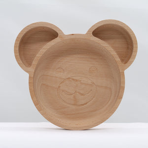 The bear plate - wood