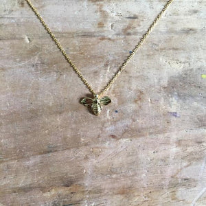 Tiny bee necklace