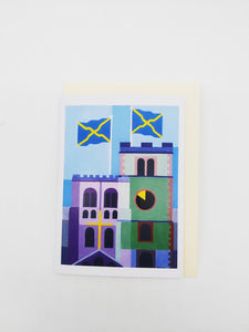 15th century face-off St Albans Abbey card