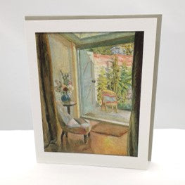This pretty, all-occasion card is named 'View into the Garden, 1926' by artist Vanessa Bell.