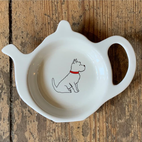 A fabulous tea bag dish for all westie lovers. Presented in its very own kraft gift box to make the perfect present.