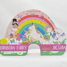 Load image into Gallery viewer, Rainbow fairy 80pc jigsaw - rainbow shaped box