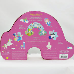 Rainbow fairy 80pc jigsaw - rainbow shaped box