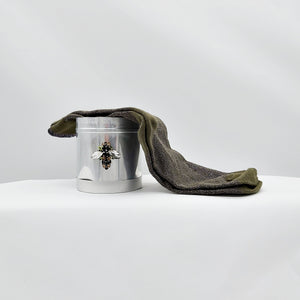 Socks in a tin (large) - sparkly bee Tokyo olive
