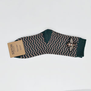 ZZ socks (single pair) - forest - small insect pin