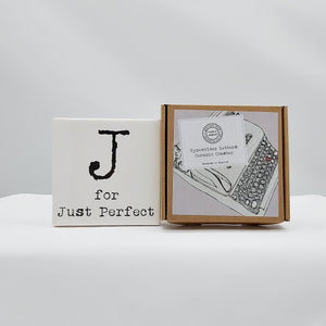 Alphabet ceramic coaster
