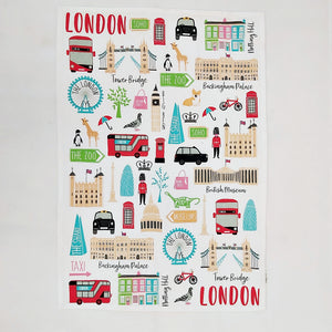 London adventures tea towel
