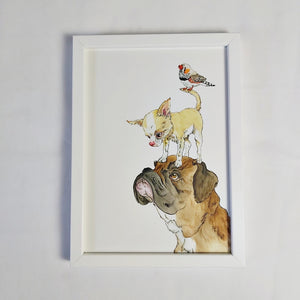Zelda (dog, bird etc.) framed print
