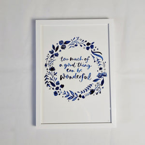 Wonderful framed print (A3)