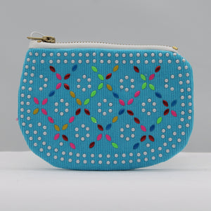 Beaded purse - blue