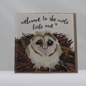 Welcome to the world owl card