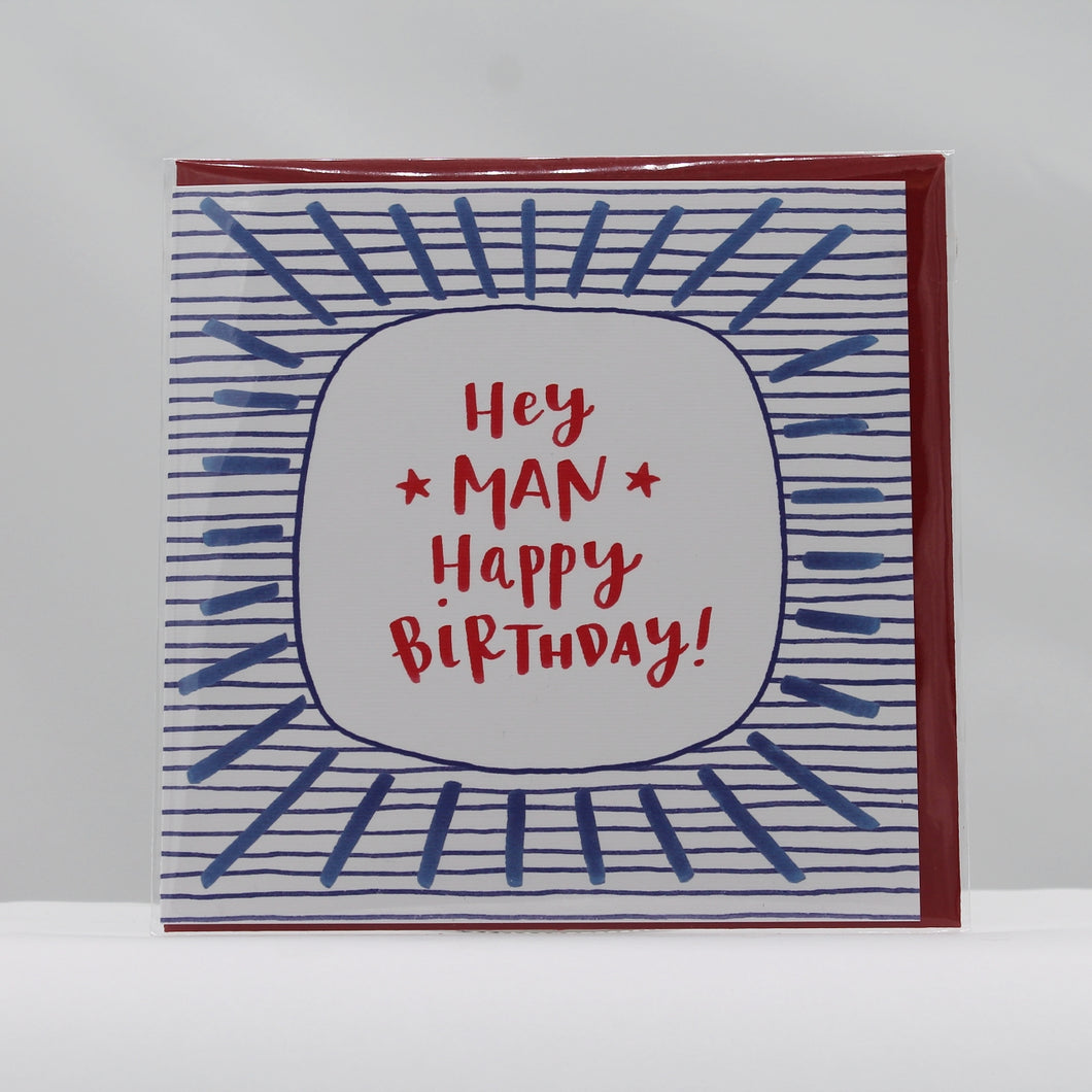Hey man happy birthday card