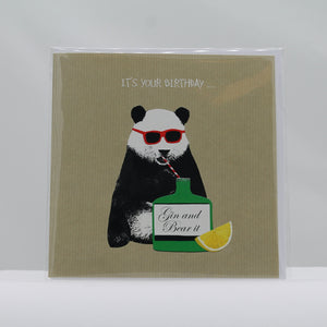Birthday gin & bear it card