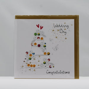 Bijoux wedding day cake card