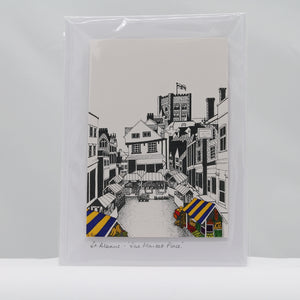 The market place St Albans card