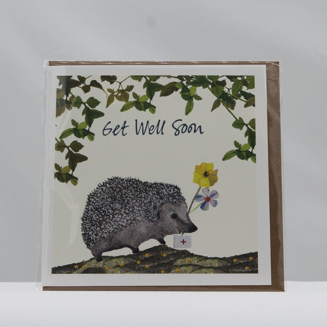 Get well hedgehog card