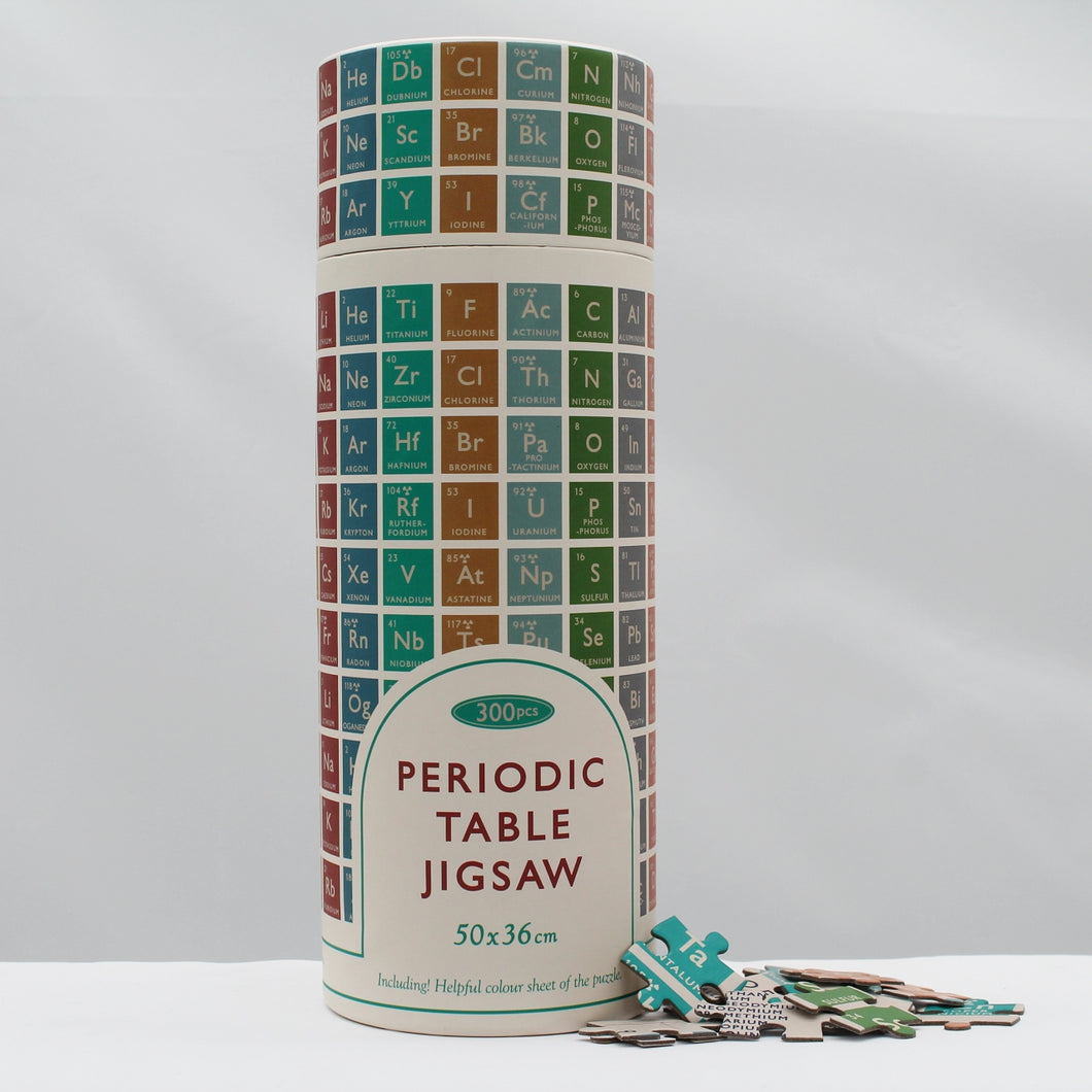 Periodic table puzzle in a tube