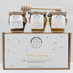 Pantry honey gift set (3 jars) gingerbread, orange & turmeric