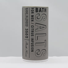Load image into Gallery viewer, Mens citrus range - bath salts tube