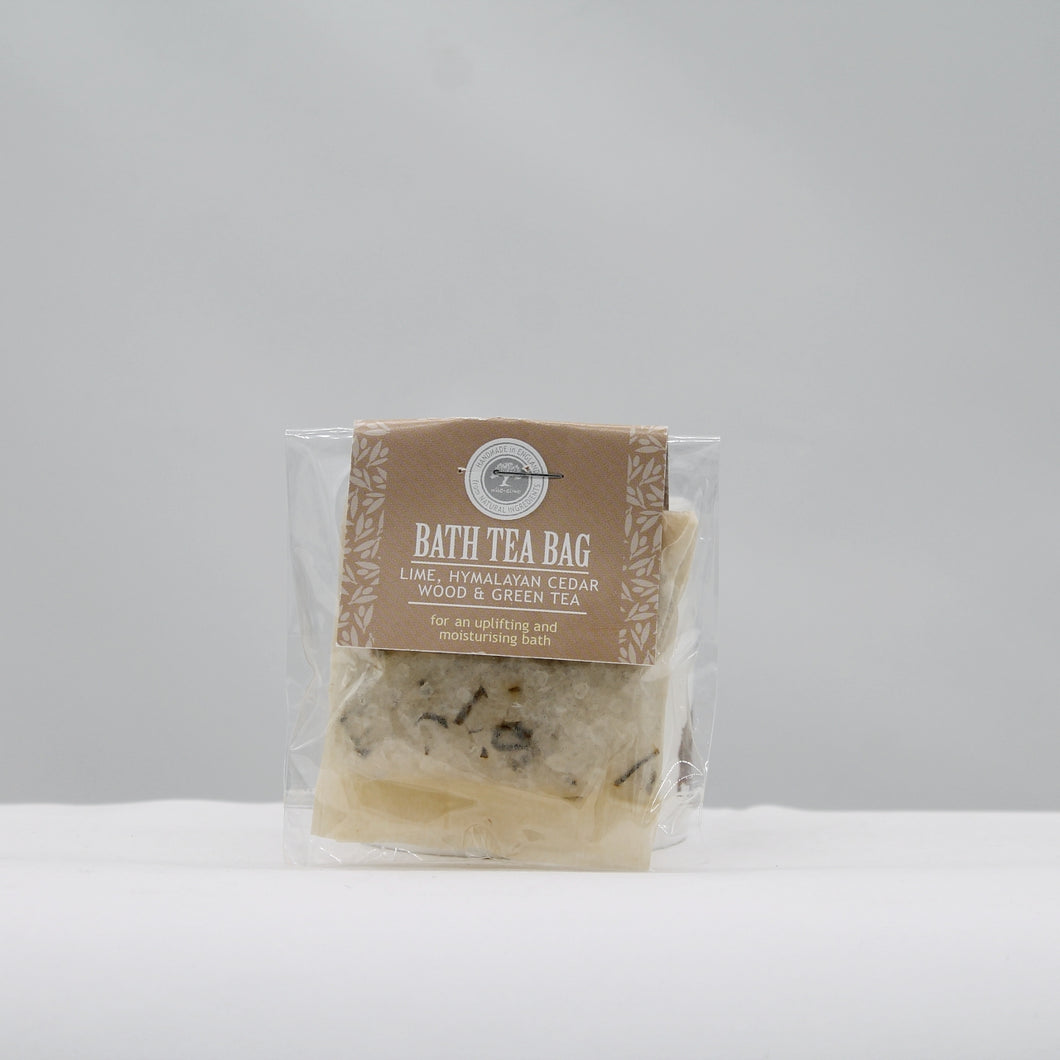 Bath tea bag - lime & himalayan cerdarwood