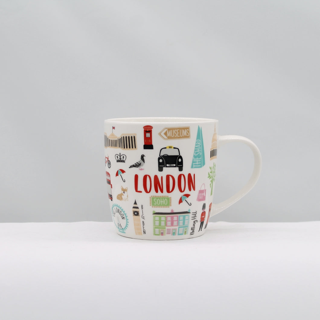 London Adventures 14oz Mug - 30% Recycled Ceramic