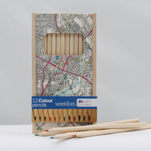 Load image into Gallery viewer, St Albans 12 colour pencils in wooden box
