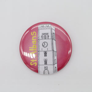 Blue/pink clocktower magnet