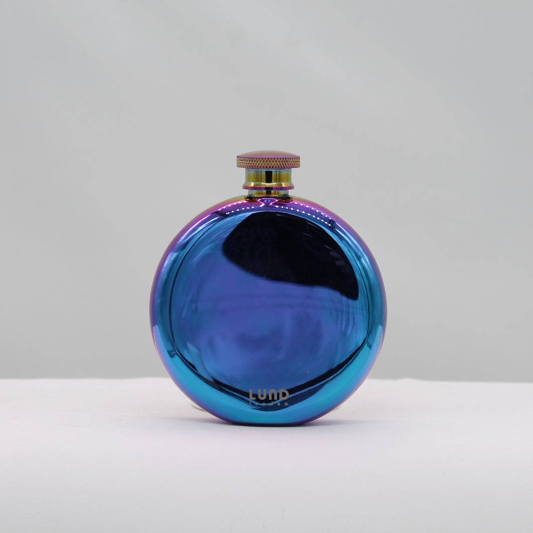 Luxe round hip flask - oil slick