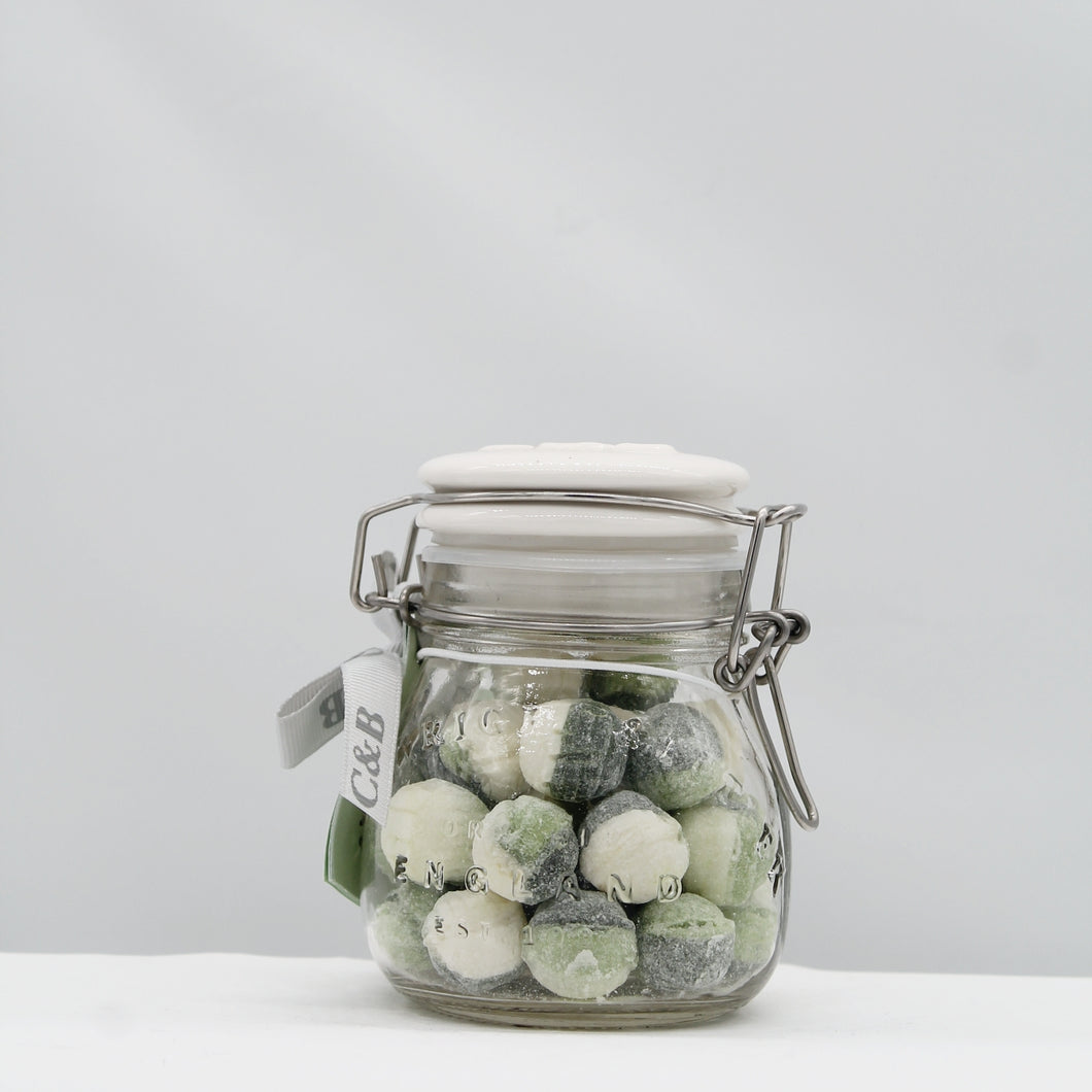 Sour Apple Sweets in jar