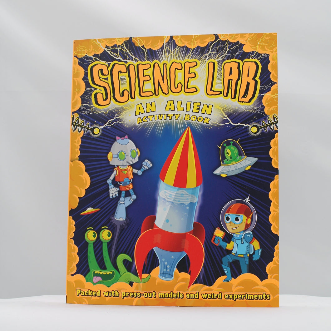 Science lab alien activity book