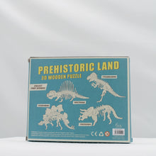 Load image into Gallery viewer, T-rex wooden puzzle
