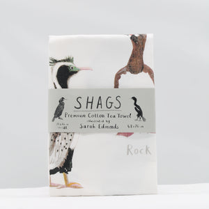 Shags tea towel