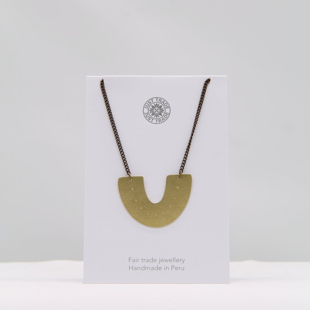 Arch single necklace - brass