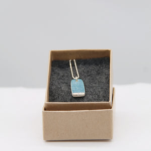 Lustre small necklace - ocean print