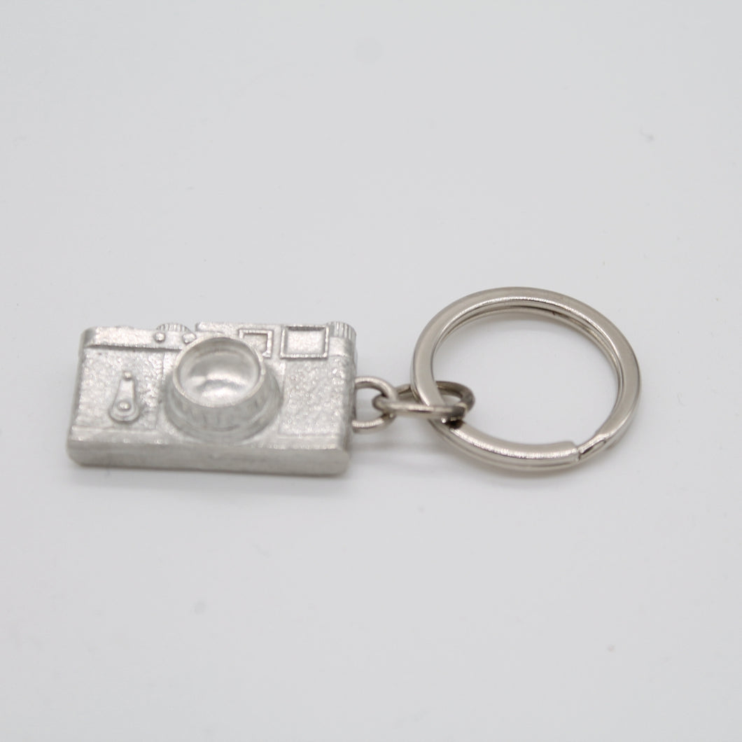 Camera pewter key ring