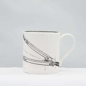Line drawing compass mug