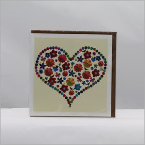 Bird heart card
