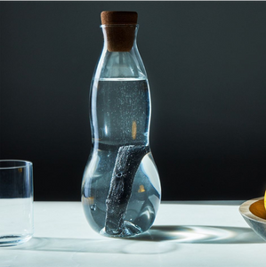 Water carafe with charcoal