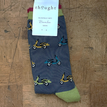 Load image into Gallery viewer, Scooter socks - blue slate