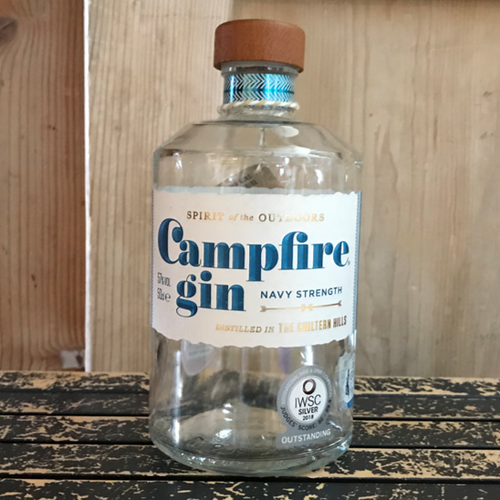 Whilst the botanicals remain anchored to that of Campfire London Dry Gin, our local distillery Puddingstone, has tweaked the recipe and raised the alcohol content to bring you a bigger, bolder expression. The perfect stormÉ in a bottle.  Winner of Gin of the Year, Navy category at Craft Distillers 2017.