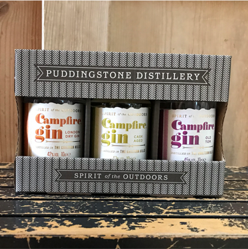 Enjoy these three award winning heritage style Campfire Gins from one of our local makers, Puddingstone Distillery.  Presented in a branded gift box, these little bottles are the perfect present for a gin lover, or yourself of course!