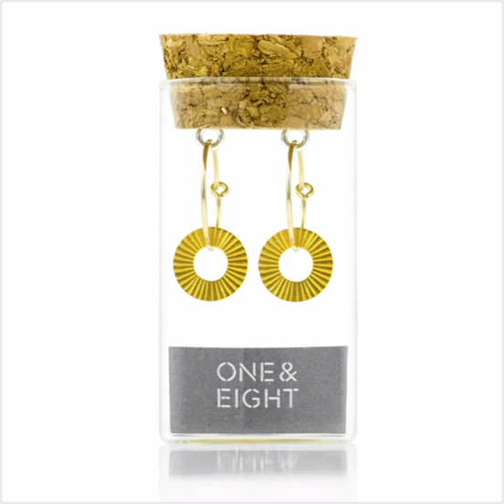 Gold surfside earrings