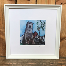 Load image into Gallery viewer, The Clock Tower print in a frame