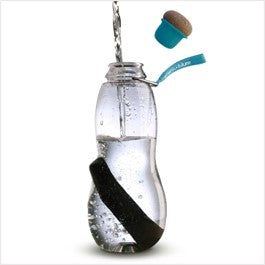 Water bottle - blue with charcoal