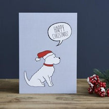 Load image into Gallery viewer, Westie Xmas hat card