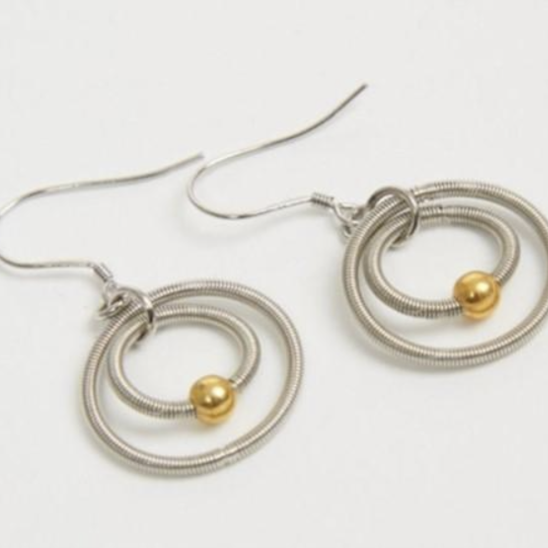 Oona hoop earrings - silver/gold